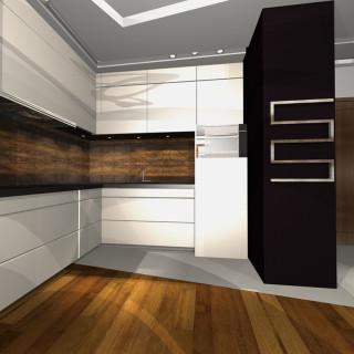 kuchnia metal i drewno