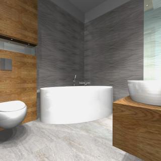 projekt łazienki w drewnie