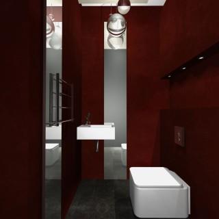 projekt łazienka w drewnie