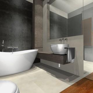 projekt łazienka jasna