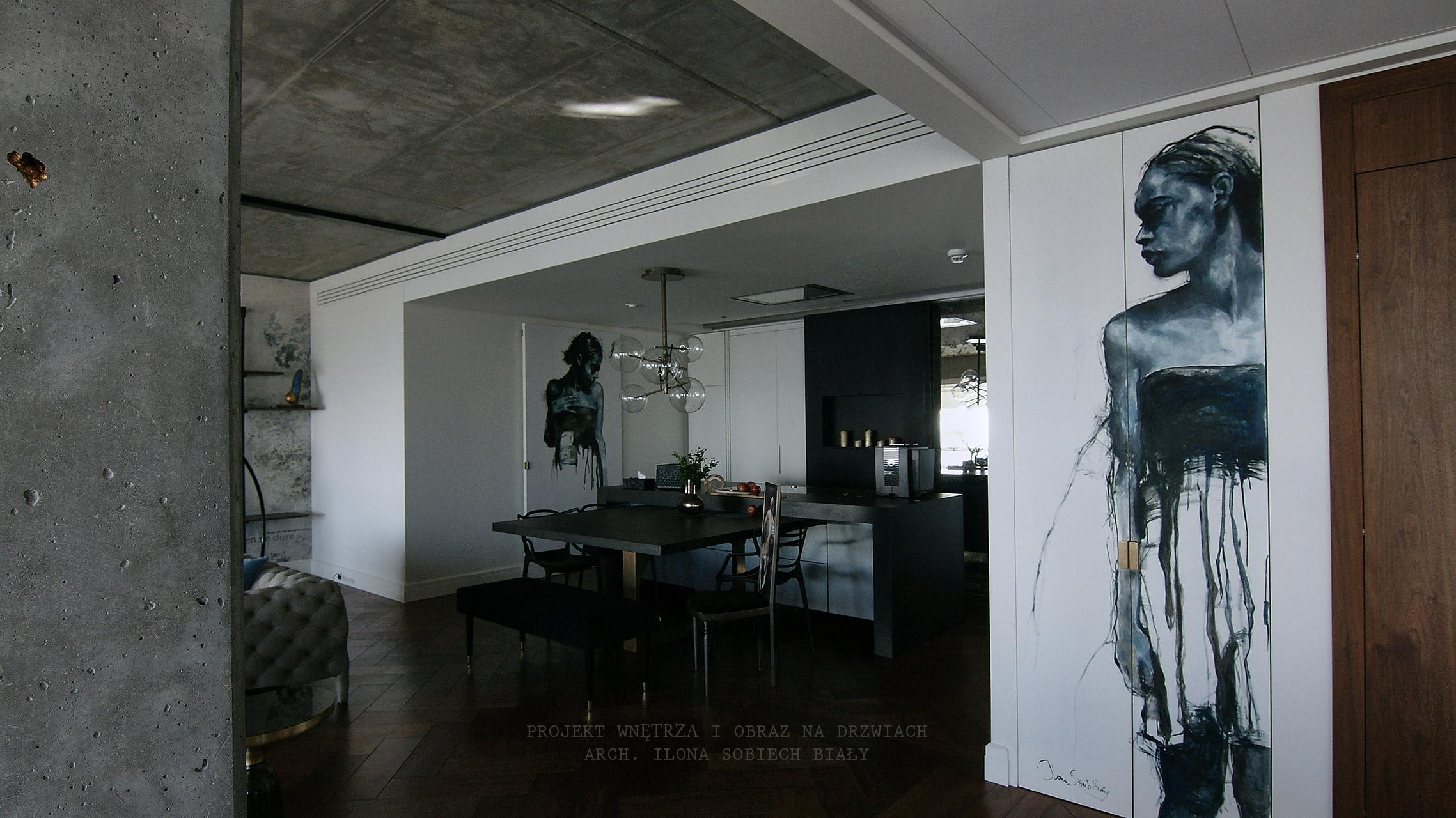 Projekt wnętrza kuchni Apartament Złota 44