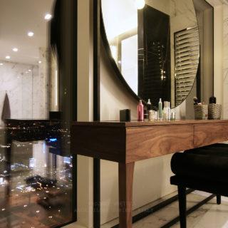Projekt wnętrza łazienki Apartament Złota 44